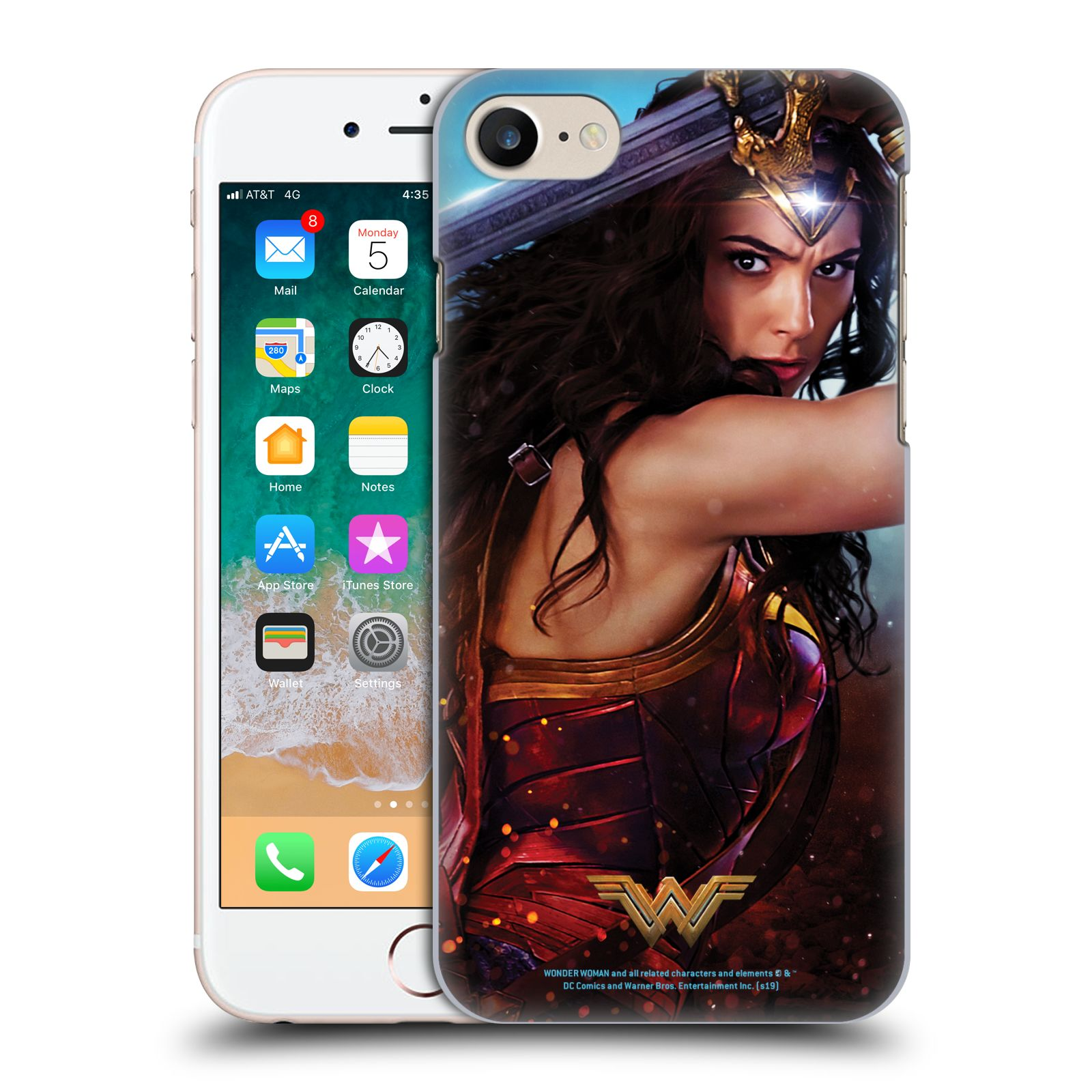Official Wonder Woman Movie Posters Godkiller Sword 2 Case for Apple iPhone 7 / 8 / iPhone SE 2020