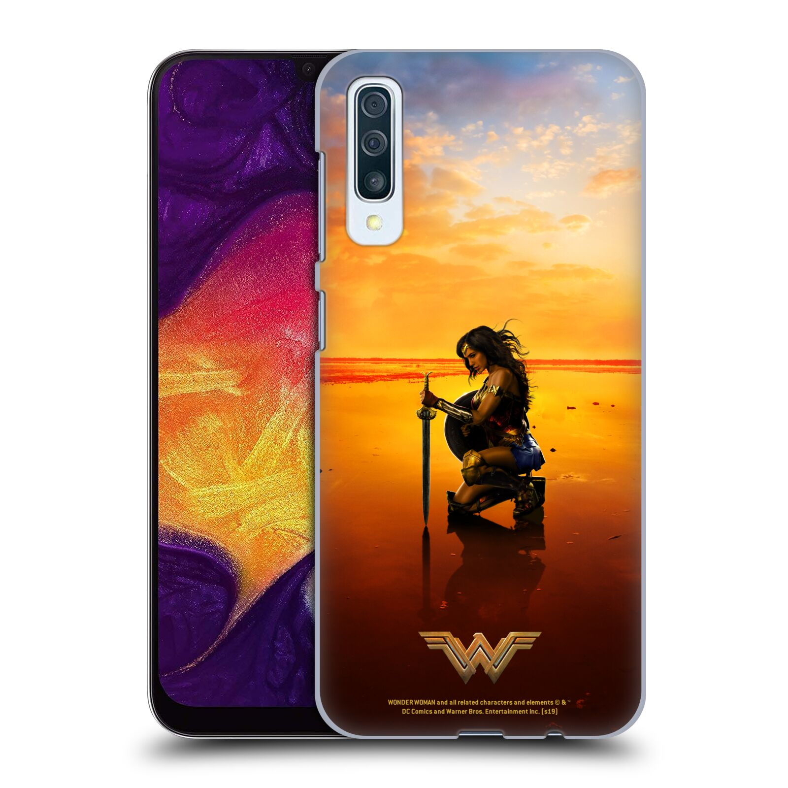 Official Wonder Woman Movie Posters Sword And Shield Case for Samsung Galaxy A50s (2019)