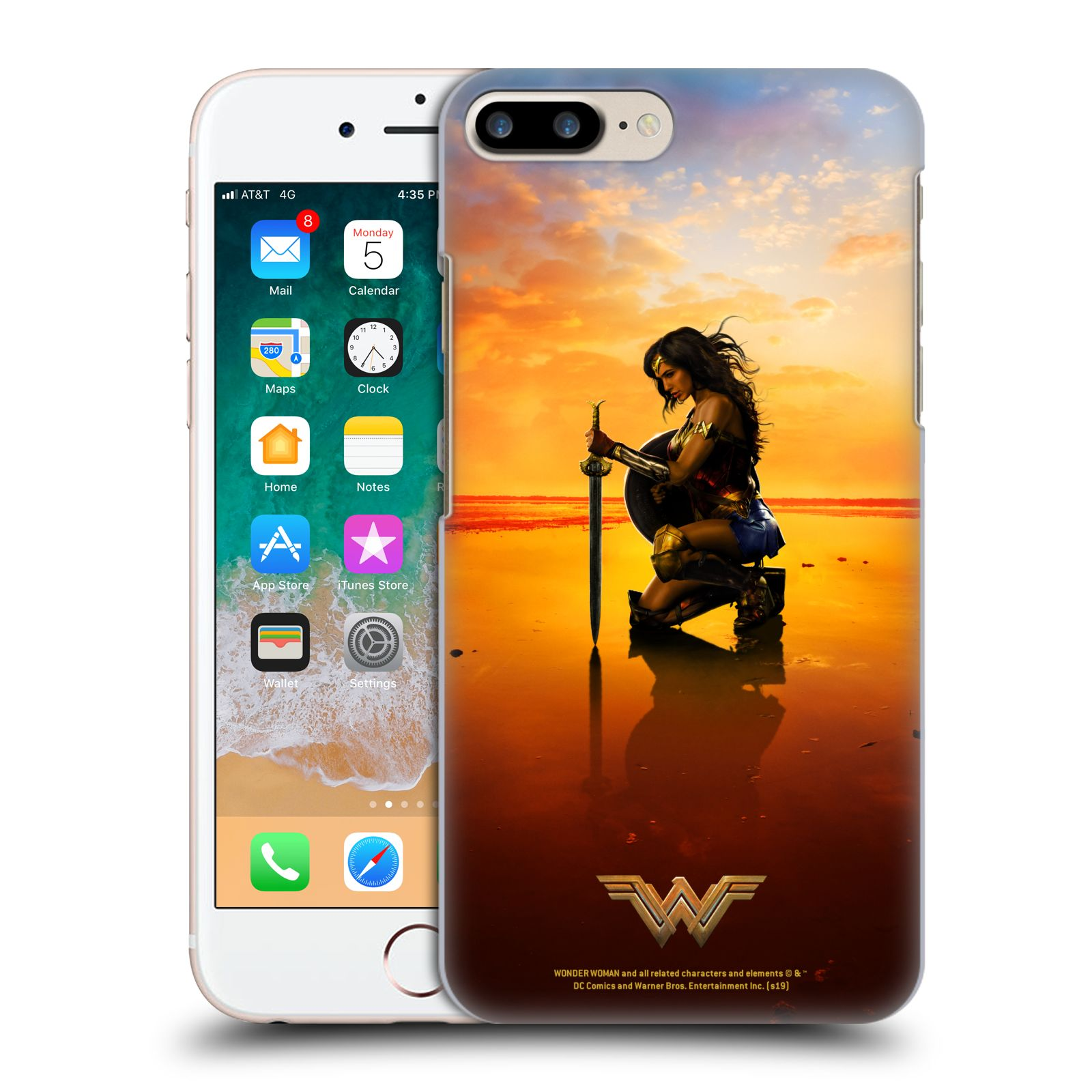 Official Wonder Woman Movie Posters Sword And Shield Case for Apple iPhone 7 Plus / iPhone 8 Plus