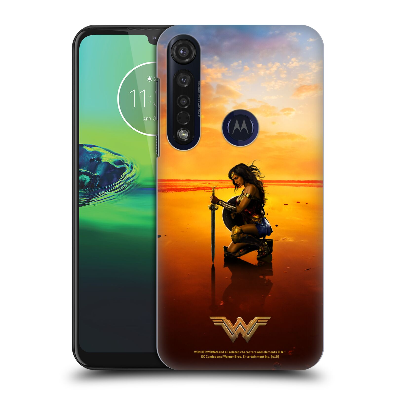 Official Wonder Woman Movie Posters Sword And Shield Case for Motorola Moto G8 Plus