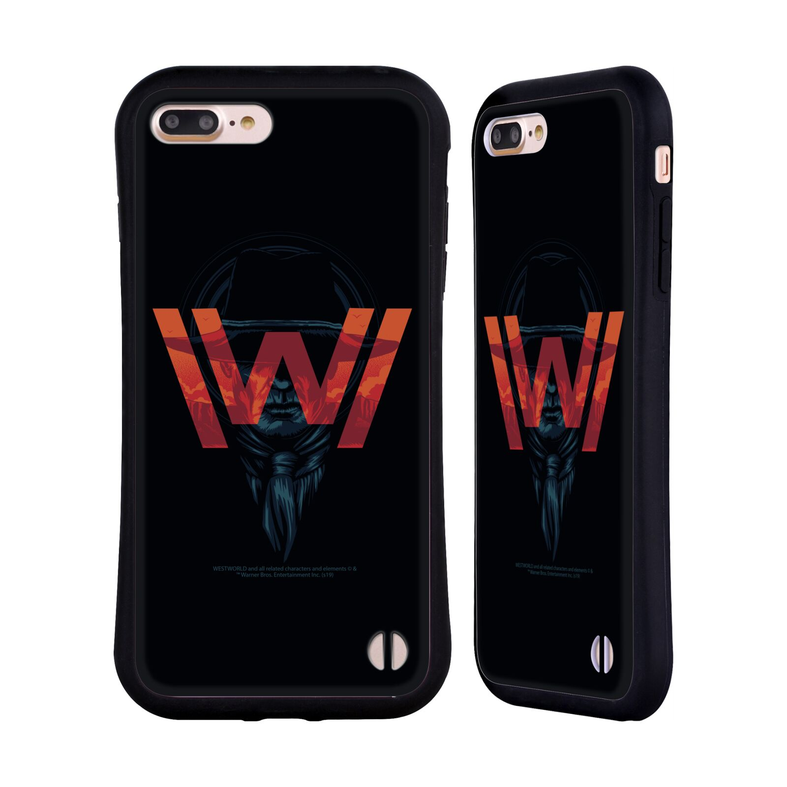 Official Westworld Logos Man In Black Hybrid Case for Apple iPhone 7 Plus / iPhone 8 Plus