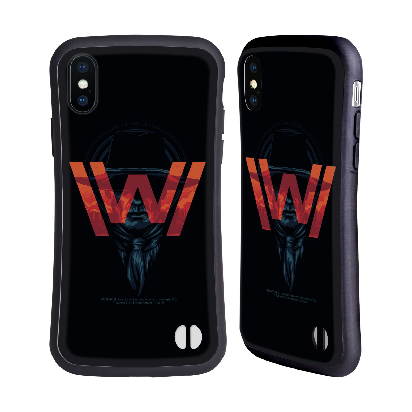 Official Westworld Logos Man In Black Hybrid Case for Apple iPhone X / iPhone XS