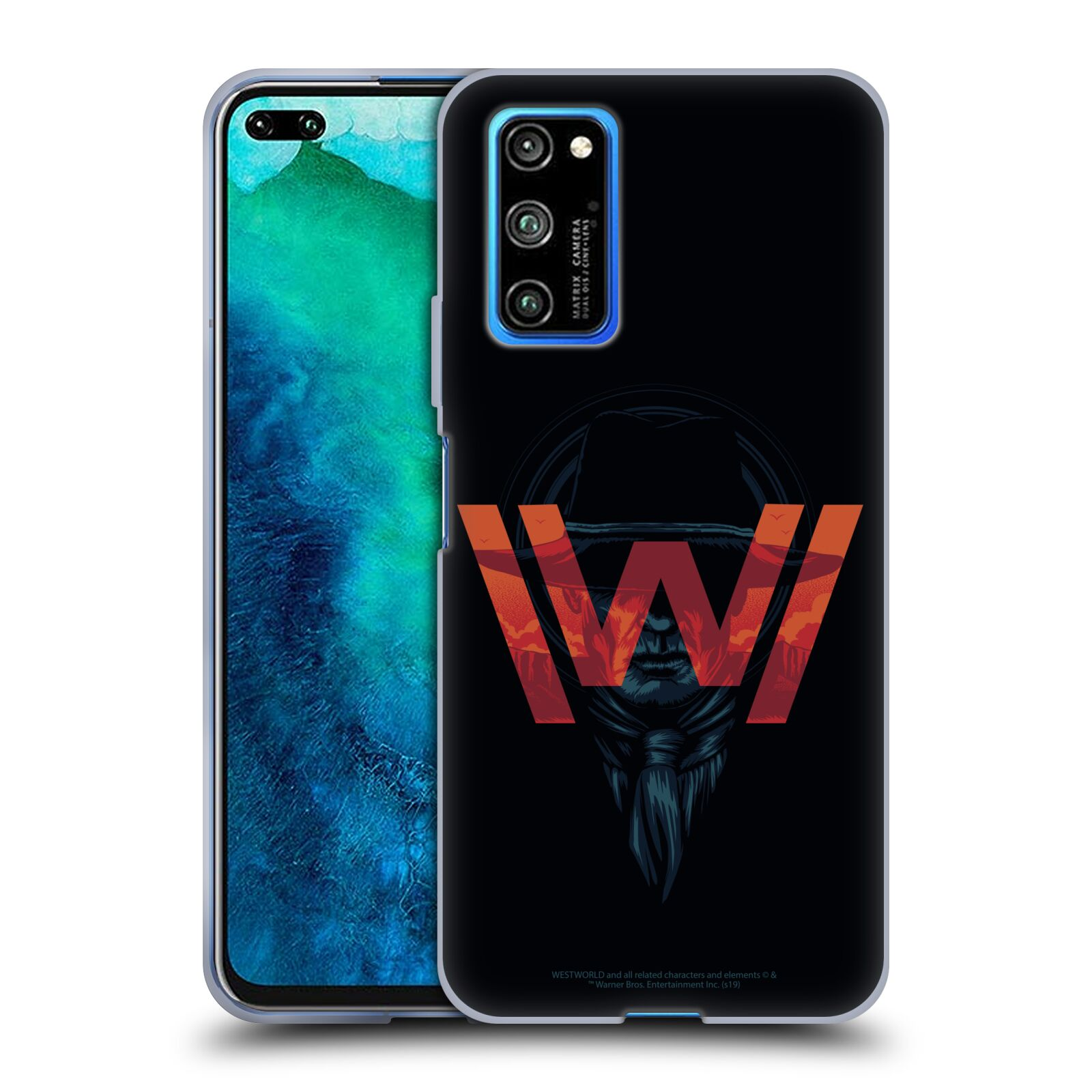 Official Westworld Logos Man In Black Gel Case for Huawei Honor V30 Pro / View 30 Pro