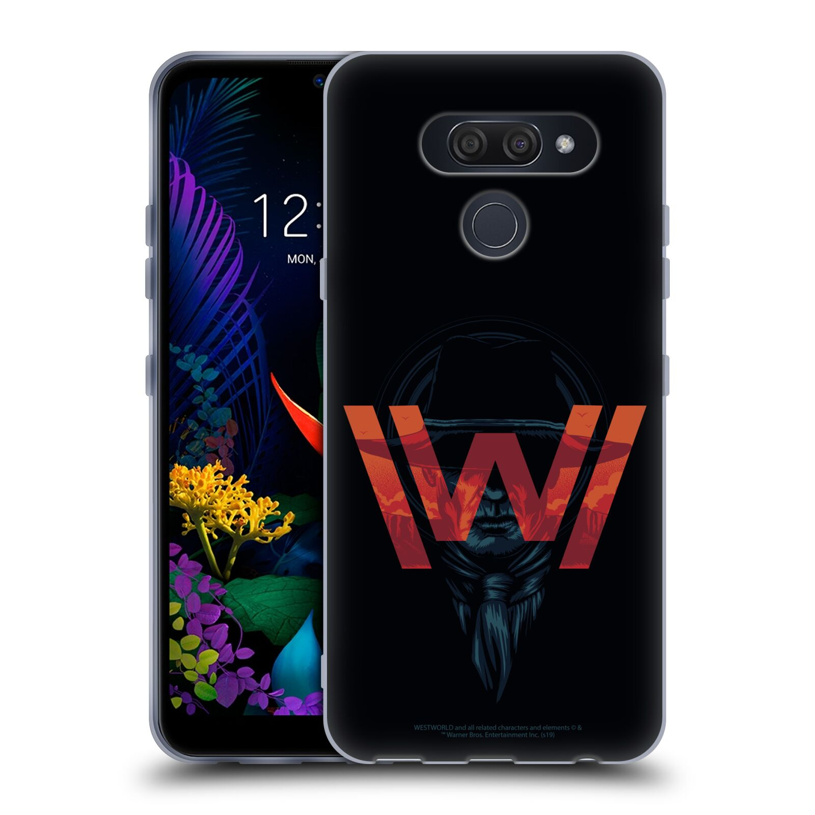 Official Westworld Logos Man In Black Gel Case for LG K50