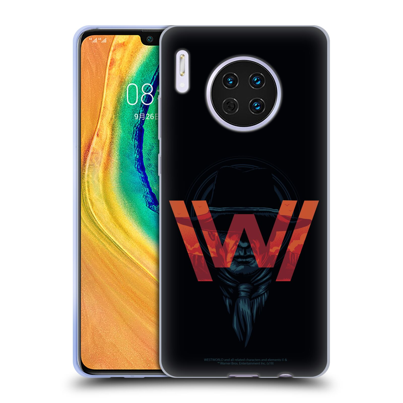Official Westworld Logos Man In Black Gel Case for Huawei Mate 30