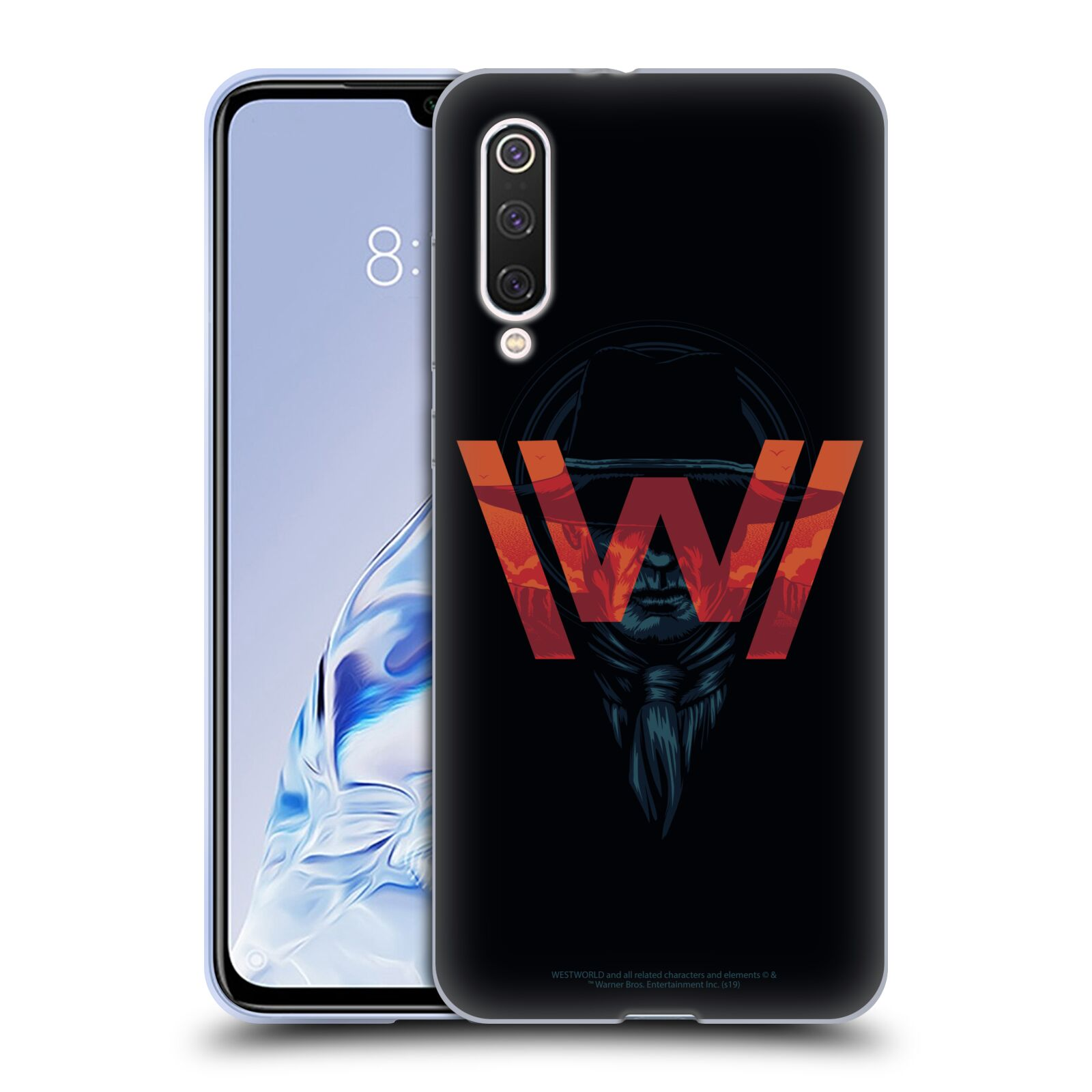 Official Westworld Logos Man In Black Gel Case for Xiaomi Mi 9 Pro / 5G