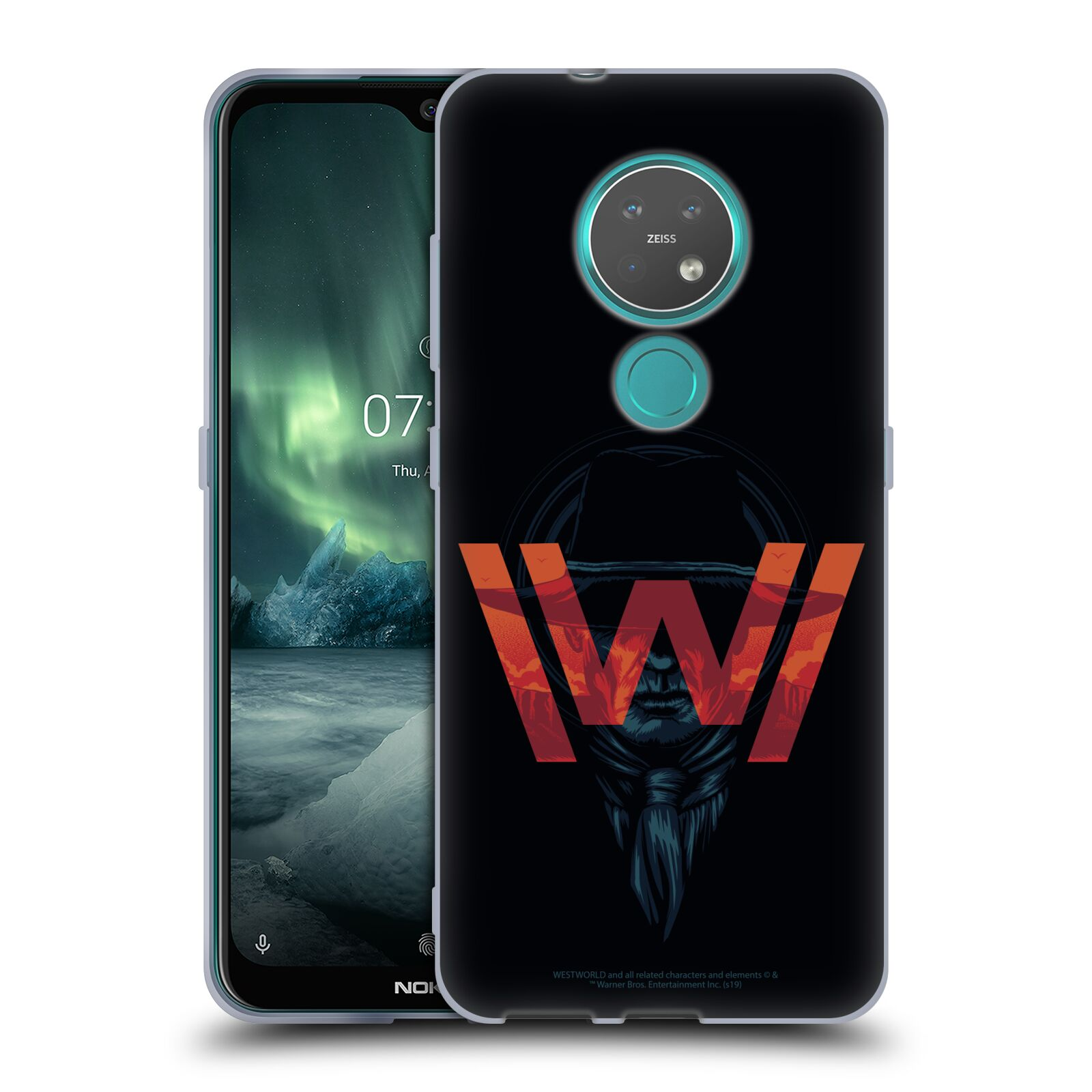 Official Westworld Logos Man In Black Gel Case for Nokia 7.2