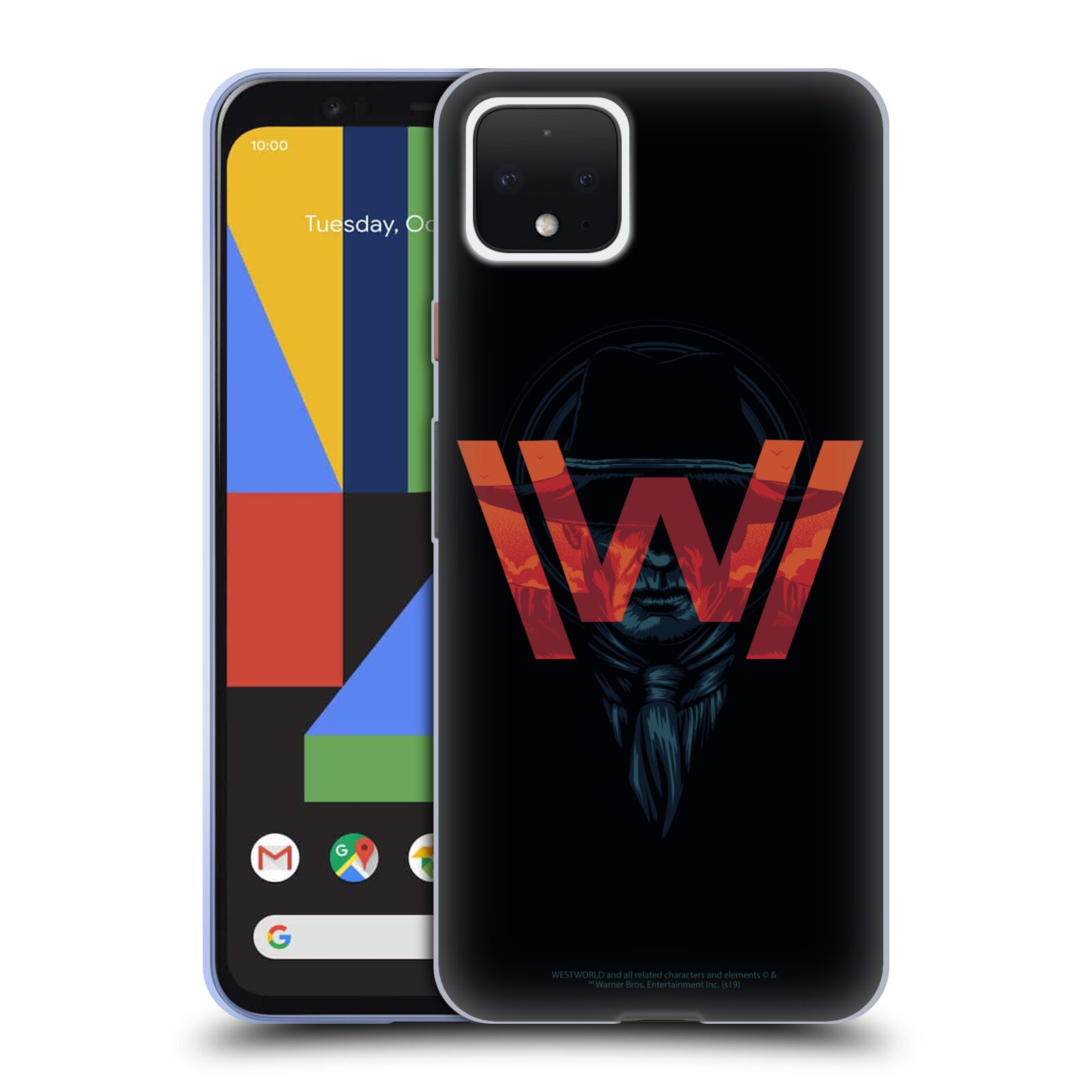 Official Westworld Logos Man In Black Gel Case for Google Pixel 4