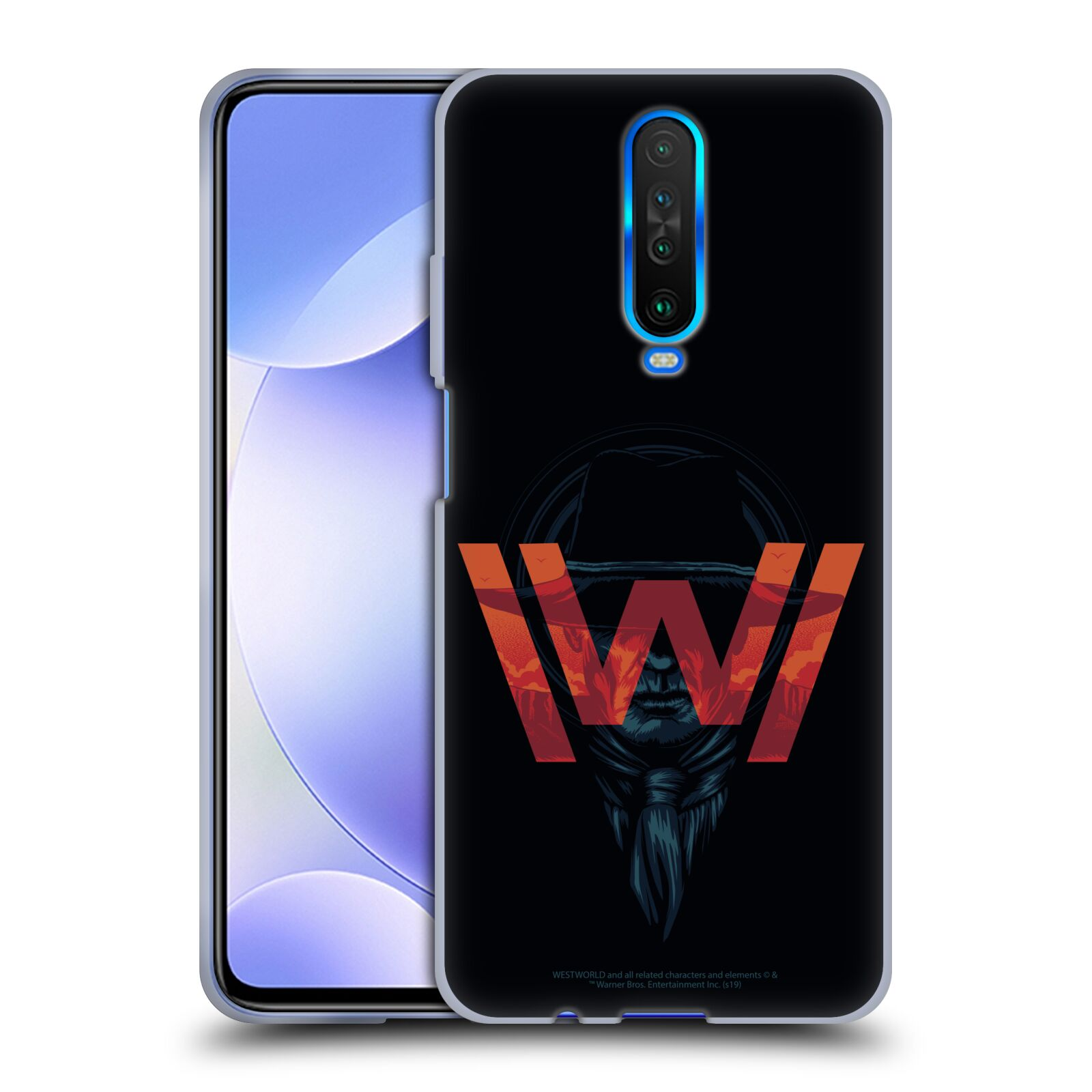 Official Westworld Logos Man In Black Gel Case for Xiaomi Redmi K30 / 5G