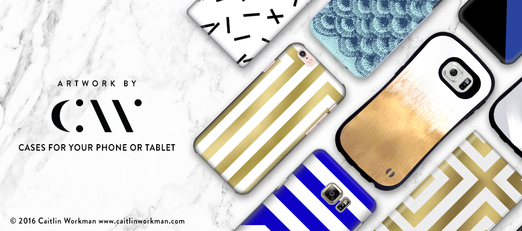 Phone Case, Tablet Case, Covers, Stickers, Skins Caitlin Workman
