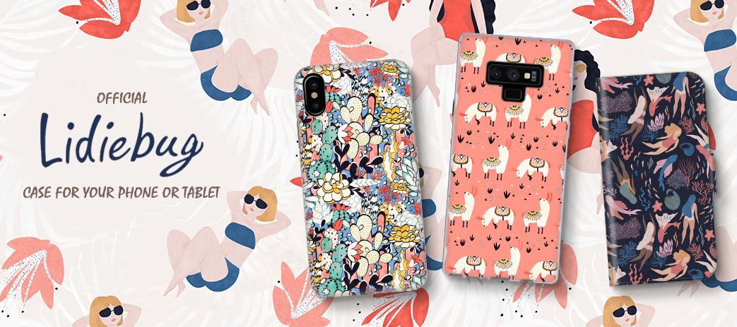 Phone Case, Tablet Case, Covers, Stickers, Skins Lidiebug
