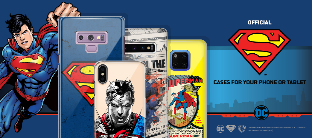 Phone Case, Tablet Case, Covers, Stickers, Skins Superman DC Comics