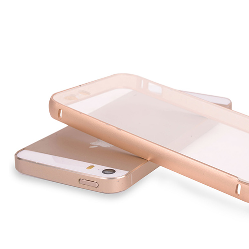 Aluminum Bumper with Clear Back Panel Phone & Tablet Case Cover